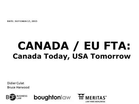 How Businesses Can Benefit from the New CANADA / EU Free Trade Agreement