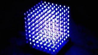 Трехмерный светодиодный куб дисплей - 3D Led cube8x8x8(3D светодиодный куб, состоит из 512 синих 3мм сверхъярких светодиодов. Разрешение экрана X8 x Y8 x Z8. Корпус из..., 2013-12-04T18:18:16.000Z)