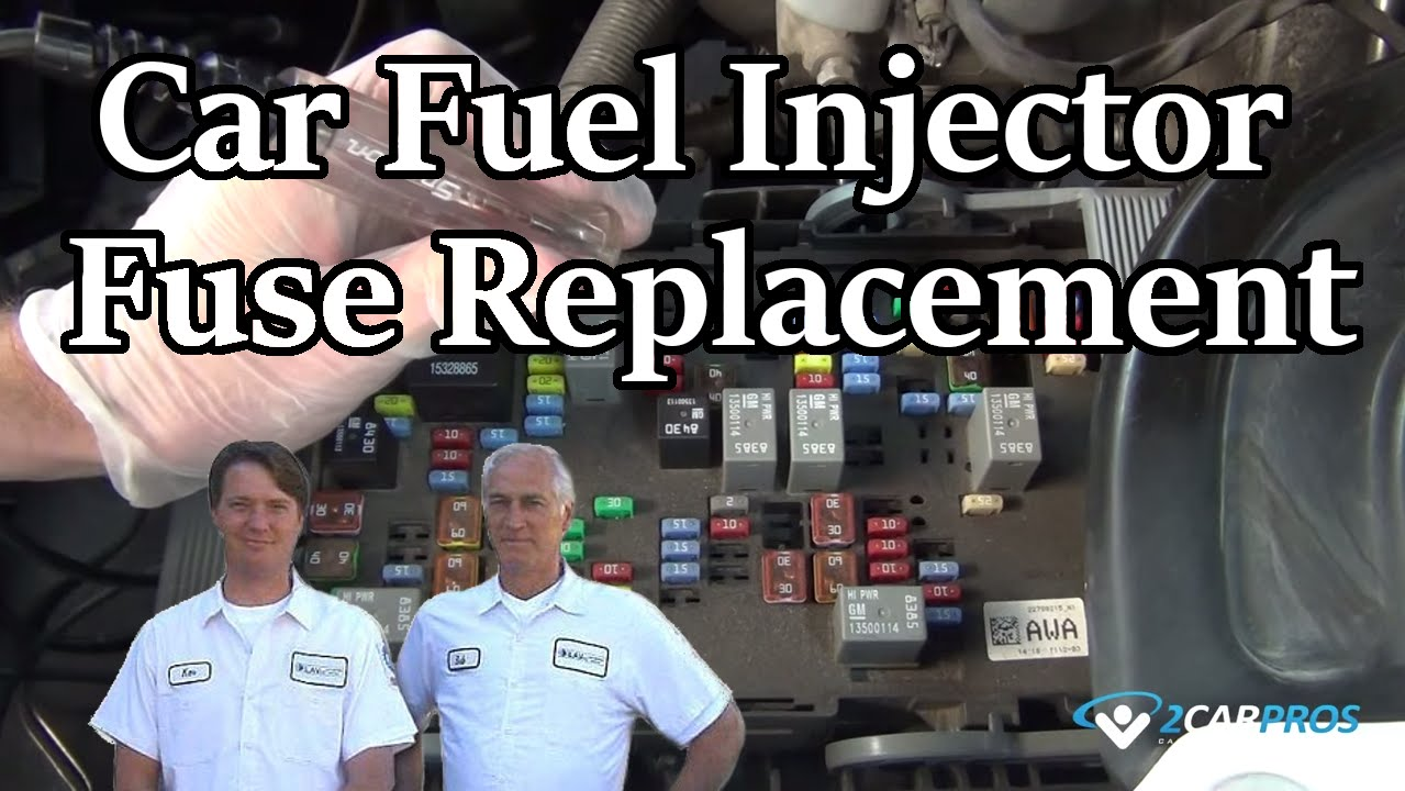 Car Fuel Injector Fuse Replacement Youtube 2008 Buick Enclave Box Diagram
