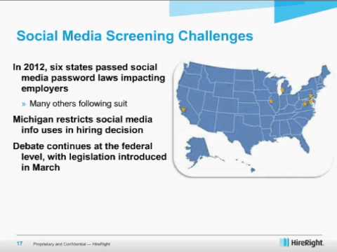 2013 HireRight Employment Screening Benchmarking Report Webinar