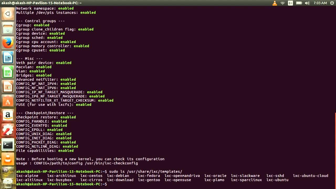 Installing LXC on UBUNTU 16 04