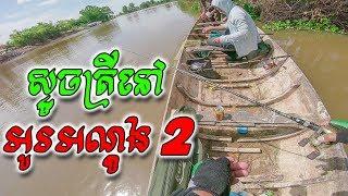 ស្ទូចត្រីនៅអូរអណ្តូង 2   Fishing Vlog S3 #11