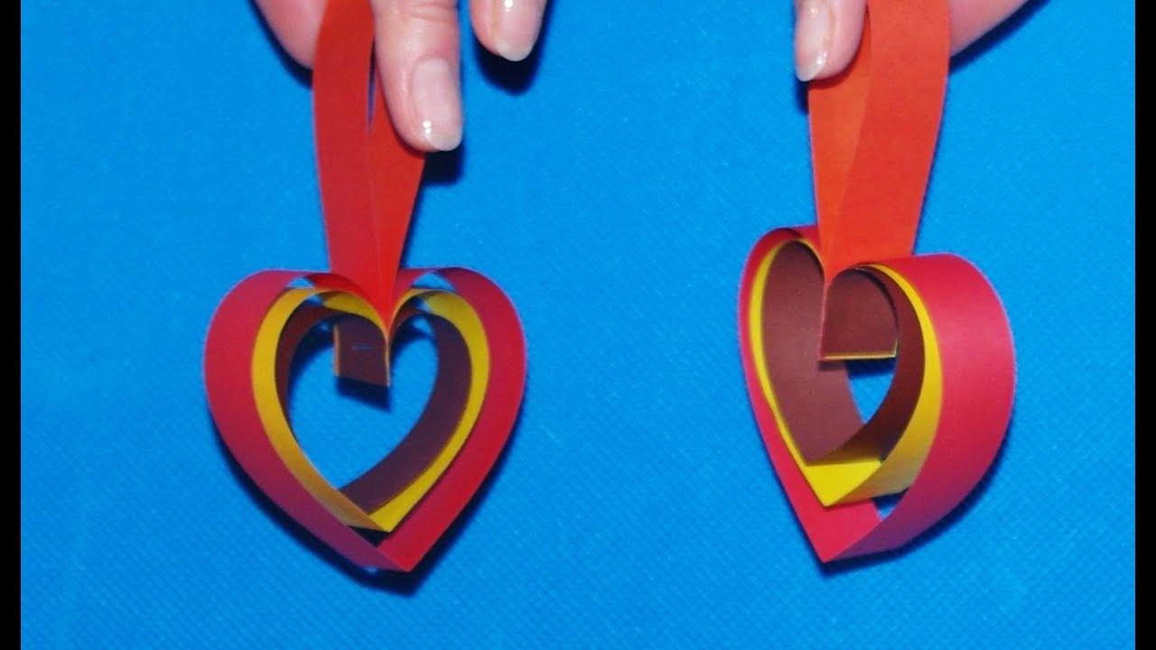 Поделки сердечки своими руками из бумаги