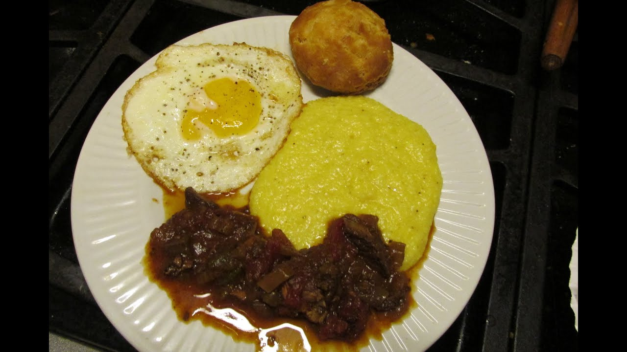 Cajun breakfast gravy steak grits egg biscuit crowder peas & rice ...