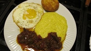 Cajun Breakfast Gravy Steak Grits Egg Biscuit Crowder Peas & Rice