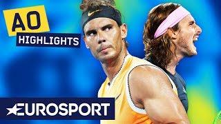 Rafael Nadal vs Stefanos Tsitsipas Extended Highlights | Australian Open 2019 Semi-Finals