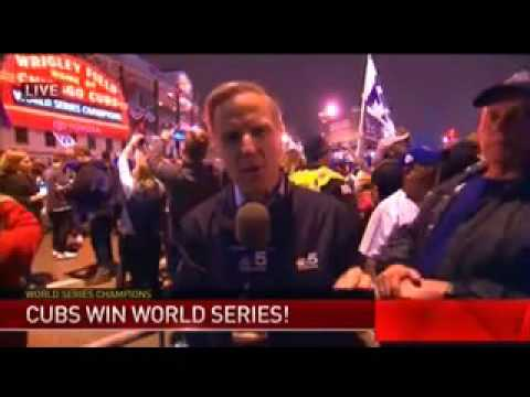 (WMAQ) Cubs Win World Series Breaking News (November 2, 2016)