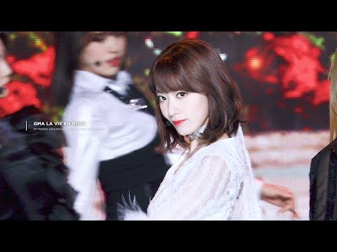 [4K] 190123 가온차트 뮤직 어워드 아이즈원 미야와키 사쿠라 직캠 / GMA La Vie en Rose miyawaki sakura fancam