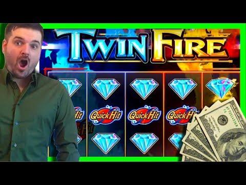 TWIN FIRE Quick Hits/Hot Shots Slot Machine LIVE PLAY and BONUS