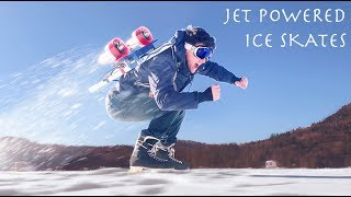 Putting Jets On My Back and Trying To Ice Skate! (Good or Bad Idea?!?!)