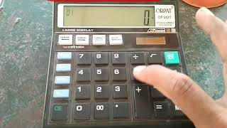 Orpat calculator OT 512T