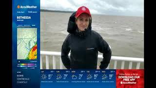 AccuWeather Meteorologist Cheryl Nelson - Hurricane Dorian liveshots