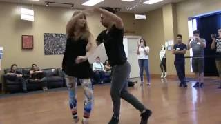 Julio and Yana Dance Bachata at DF Dance Studio - Utah