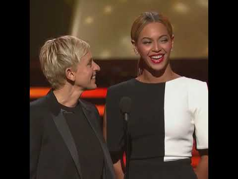 Ellen With Beyonce At The Grammy