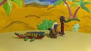 Мультфільм про динозаврів. Маргарита 10 лютого 2017 р.