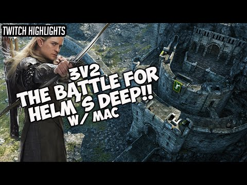 BFME2 1.08 - 3v2 - Ruud&Mac Defend Helm's Deep!