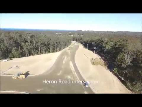 Glenella Road drone flyover - constructing the south Batemans Bay link road