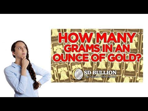 How Many Grams In An Ounce Of Gold?   SD Bullion