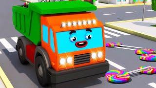 Camiones Infantiles - Camion MAX y Dulces en la ciudad - Coches Para Niños en Español Colección