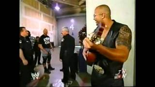 wwe the rock sings goodbye to stone cold.