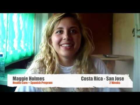 Video Review Volunteer Maggie Holmes Costa Rica, San Jose Health Care program