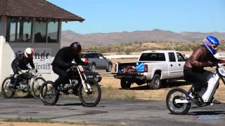 12Kw Electric Bike vs Gas motorized Bicycles Track Racing