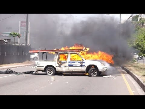 AFP news agency: Drivers clash with police in Honduras during fuel strike