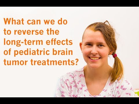 What can we do to reverse the long-term effects of pediatric brain tumor treatments?