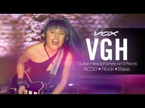 Just Plug in and Play with VOX's VGH; AC30, Rock and Bass, Guitar Headphones w/ Effects
