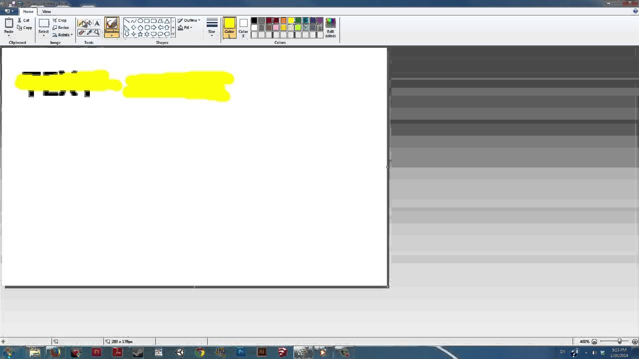 How To Highlight Text In A Picture In Paint