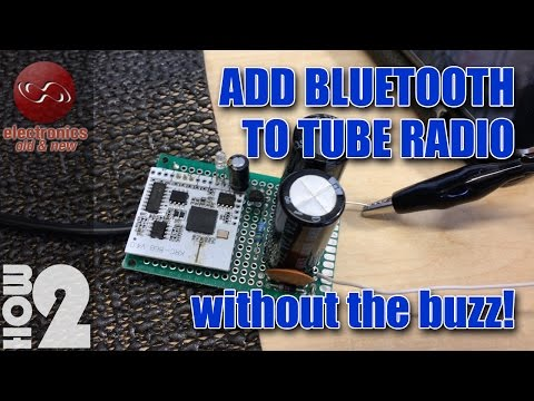 Add Bluetooth to a Tube Radio without the buzz and noise. Bluetooth receiver board KRC-86B V4.0
