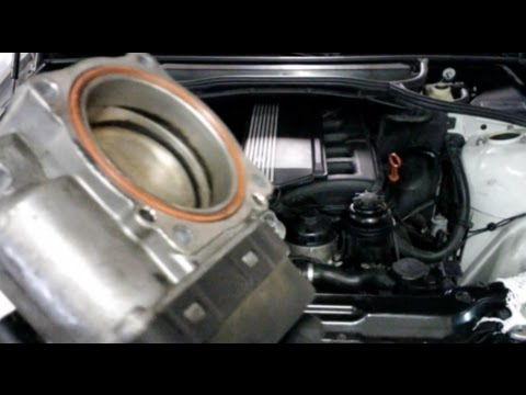 BMW E46 Throttle Body Removal Tips - YouTube
