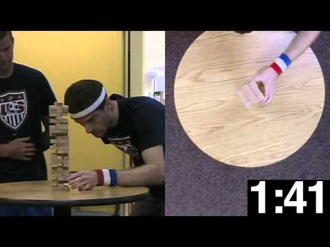 Guinness World Record Attempt: Fastest Jenga Tower -30 levels