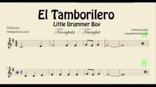 El Tamborilero Partitura de Trompeta y Fliscorno El Camino que lleva a Belén Little Drummer Boy