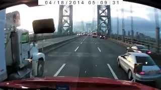 Crossing GW Bridge into New York