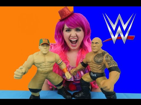 WWE John Cena & The Rock 3 Count Crushers | TOY REVIEW | KiMMi THE CLOWN