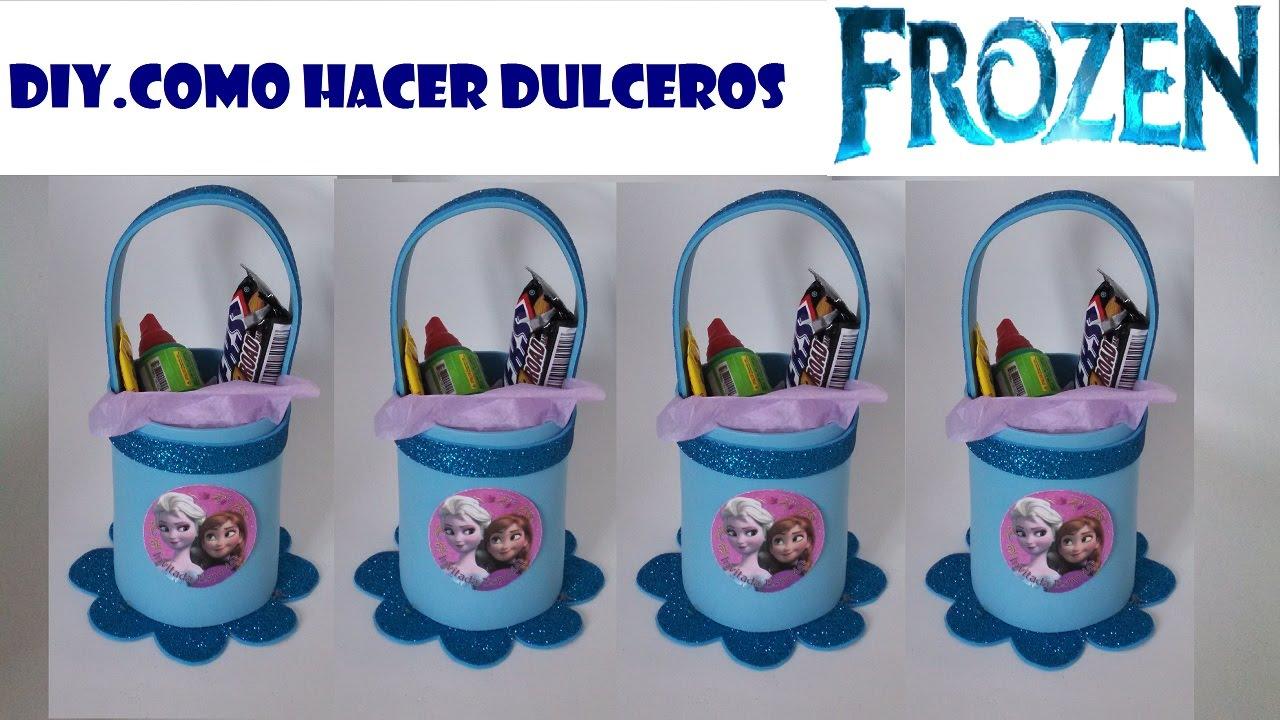 6f27b7afe DIY.COMO HACER DULCERO DE FOAMI FROZEN - YouTube