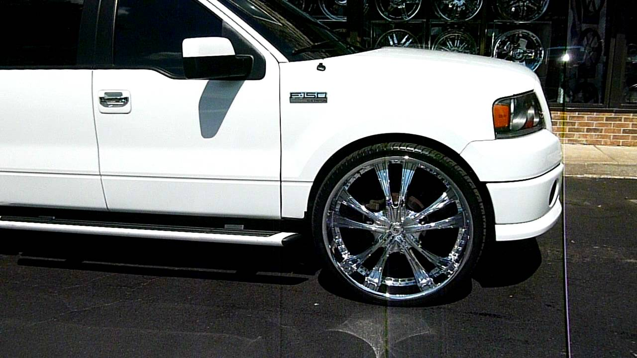 White F 150 On 30 Quot Inches Youtube