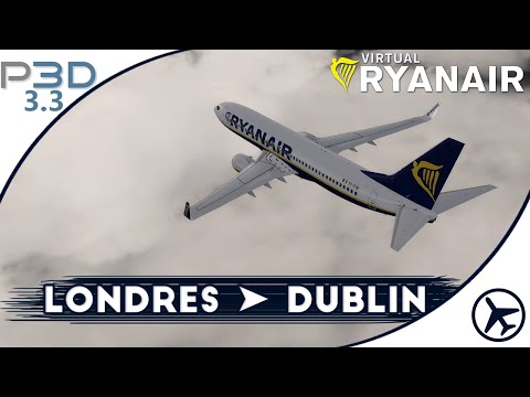 Motor y al aire!   STN - DUB   P3D 3.3   Virtual Ryanair #12 [IVAO]