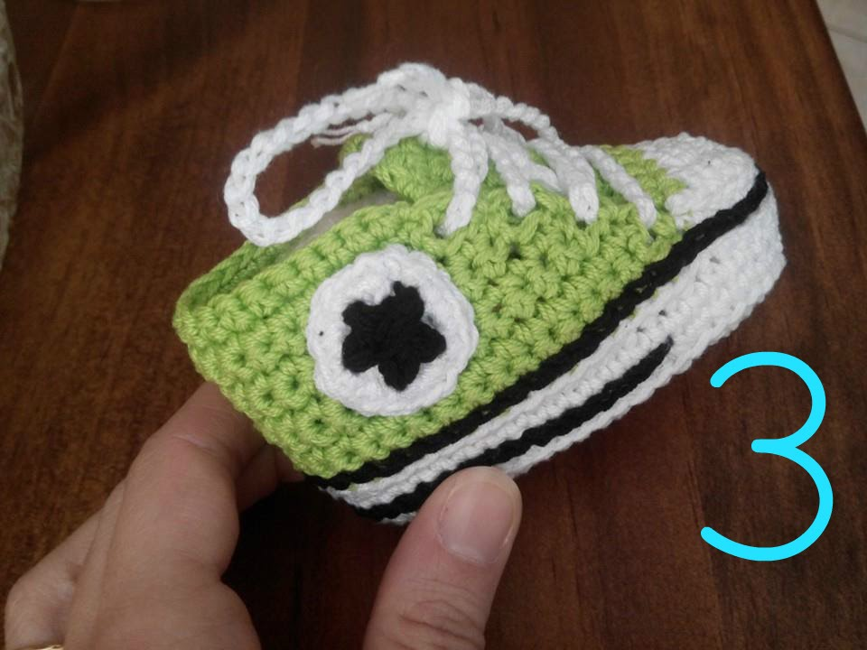 Tutorial Crochet How To Make Baby Shoes All Star Converse