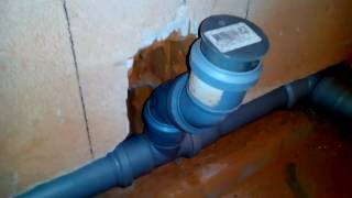Монтаж (установка) канализационных труб в санузле своими руками часть 1 (неправильная сборка)(, 2017-07-14T07:37:34.000Z)