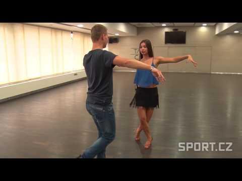 Veronika Lálová a Jan Dvořáček - samba výuka 3