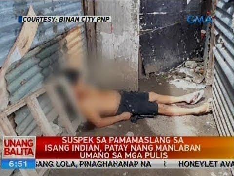 UB: Suspek sa pamamaslang sa isang Indian, patay nang manlaban umano sa mga pulis
