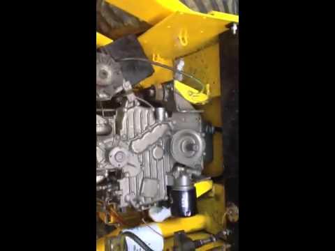 Mustang 345 skid loader diesel kubota conversion