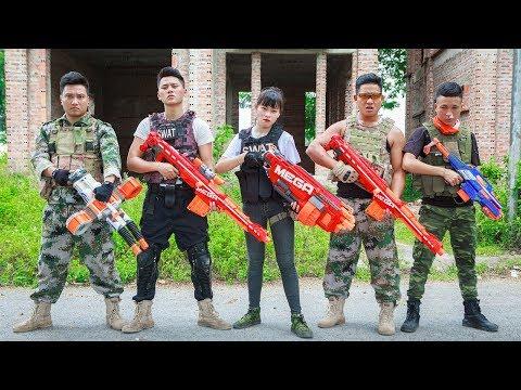 LTT Nerf War : SEAL X Warriors Nerf Guns Fight Criminal Group Guard Treasure Nerf Guns