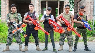 LTT Nerf War : SEAL X Warriors Nerf Guns Fight Criminal Group Guard Treasure Nerf Guns