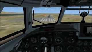 UN An-26 landing at Gambell FSX