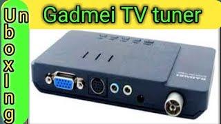 Gadmei TV tuner unboxing. Best tv tuner