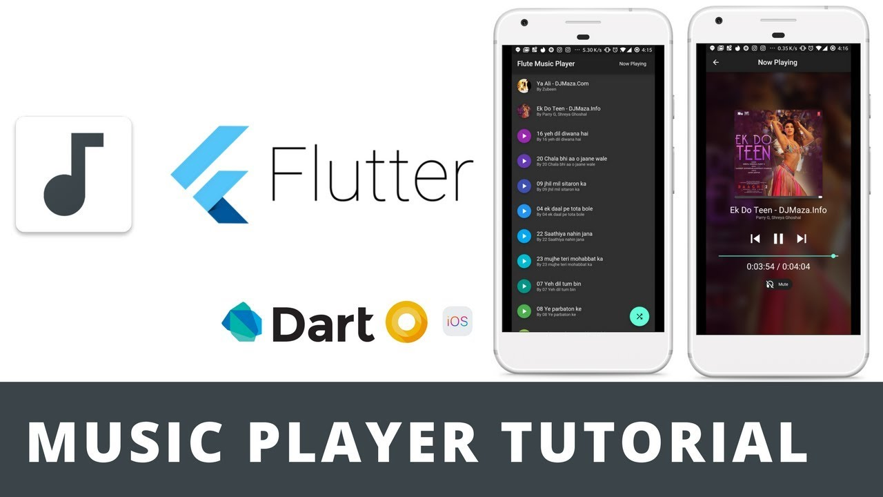 Flutter Music Player Tutorial Basic Demo Open Source Youtube