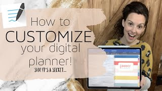 How to customize a digital planner | Goodnotes tips and secrets | Customizing a digital planner